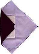 台付き袱紗紫(開いたところ)